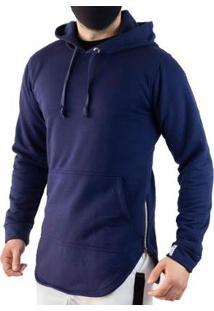 Casaco Vcstilo Longline Masculino - Masculino-Azul
