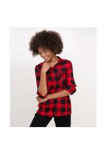 Camisa Xadrez Flanela | Blue Steel | Vermelho | P