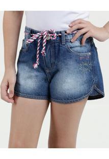 Short Infantil Jeans Bordado Marisa