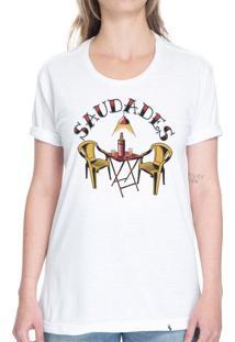 Saudades - Camiseta Basicona Unissex