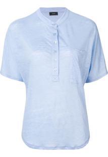 Joseph Camiseta Com Botões - Roxo