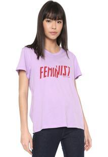 Camiseta Colcci Feminist Lilás