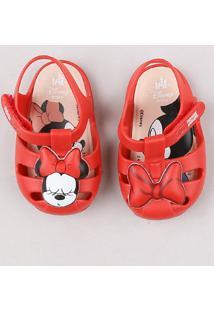 Sandália Infantil Grendene Minnie Vermelha