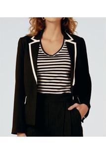 Camiseta Liz Easywear Manga Curta Listrada Feminina - Feminino-Listrado
