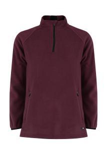 82f2880f24ecc Blusa De Frio Fleece Nord Outdoor Bicolor - Feminina - Vinho