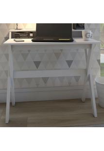 Mesa Escrivaninha Itália 3 Nichos Branco - Artany