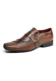 Sapato Social Bico Fino Sw Shoes Exclusivo Com Fivela Cappuccino