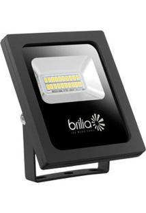 Refletor Led 10W 6500K Ip65 Bivolt Slim Brilia