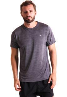 Camiseta Liquido Básica Mescla Boy - Cinza P