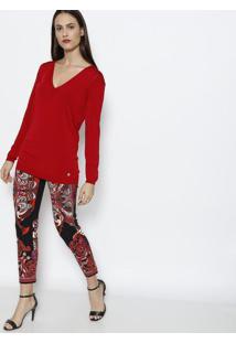 Suéter Em Tricô - Vermelhoversace Collection