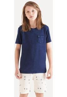 Camiseta Infantil Reserva Mini Sm Malha Indigo Estonada Masculina - Masculino