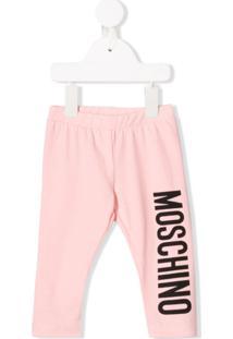 Moschino Kids Legging Com Estampa De Logo - Rosa