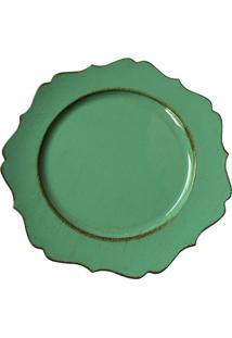 Sousplat- Verde- 2Xã˜33Cmbtc Decor
