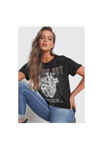 Camiseta Colcci Inside Out Preta