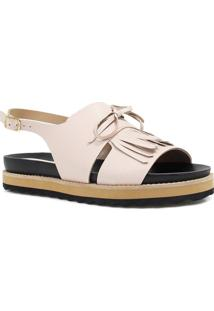 Sandália Zariff Shoes Rasteira Barbicacho Rosa