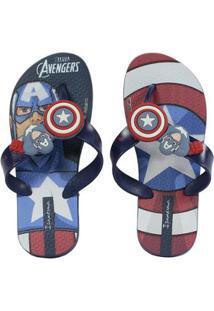 Chinelo Infantil Ipanema Avengers Combat Masculino - Masculino-Azul