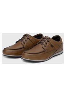 Sapato Em Couro Hayabusa Enter 10 Tan Solado Cinza