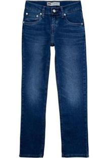 Calça Jeans Levis 511 Slim Infantil - Masculino-Azul