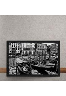 Quadro Decorativo Barcos De Veneza 25X35
