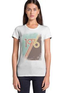 Camiseta Joss Feminina Estampada 1970 - Feminino-Branco