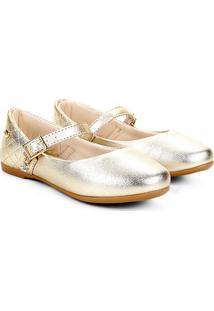 Sapato Infantil Klin Princesa Baby Feminino - Feminino-Dourado