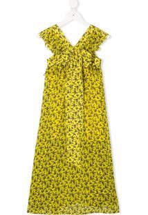 Philosophy Di Lorenzo Serafini Kids Vestido Longo Com Estampa Floral - Amarelo
