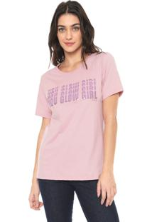 Camiseta Carmim Glow Girl Rosa