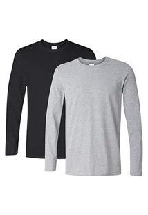 Camiseta Manga Longa Algodáo Camisa Comprida Uniforme Lisa