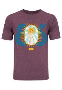 Camiseta Oxer Básica - Masculina - Vinho Cinza Escuro - La Mano De Dios - 80c5985cb56