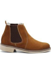 Bota Valente Boots Basic Cano Curto Elastico Masculina - Masculino-Marrom