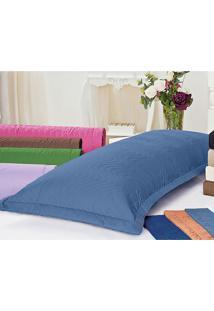 Porta Travesseiro Xuxão 180 Fios Azul Mar