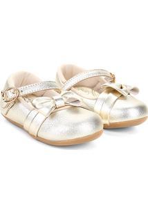 Sapato Infantil Klin Cravinho Princess Feminino - Feminino-Dourado