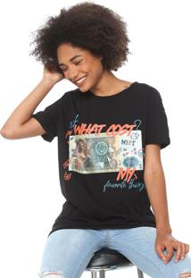 Camiseta My Favorite Thing(S) Estampada Preta