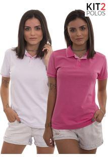 d3f1b44ca8 Kit 2 Polos Femininas Lagoon Tigs - Rosa Pink E Rosa Claro-G
