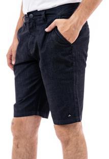 Bermuda Porto & Co Jeans Slim Preta.