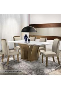 Conjunto De Mesa & Cadeiras Adria- Castanho Fosco & Animlj Móveis