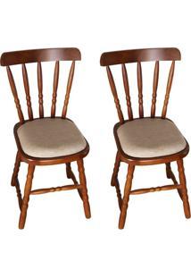 Conjunto Com 2 Cadeiras Dalas Imbuia
