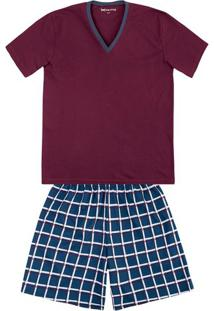 fae93f01e8b446 Pijama Masculino Em Algodão Com Decote V