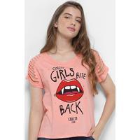 c1dd1c2bb Camiseta Infantil Colcci Fun Cortes Ilustrada Feminina - Feminino-Rosa