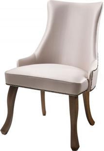 Cadeira Rocaille Rosa Claro Base Castanho - 50578 - Sun House