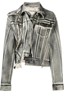 Ottolinger Double-Collar Denim Jacket - Preto