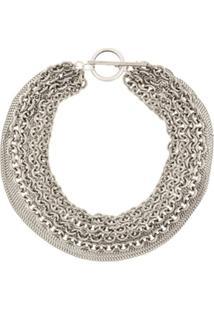 Ann Demeulemeester Variety Chain Necklace - Prateado