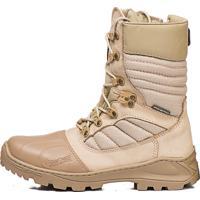 7a0b9032f Bota Coturno Acero Tática Militar Comando Couro Zíper Desert