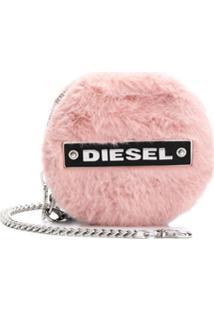 Diesel Porta-Moedas Com Patch De Logo - Rosa