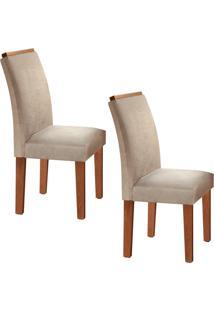Conjunto Com 2 Cadeiras Sevilha Chocolate E Jacquard