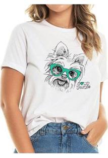 T-Shirt My Yorkie Buddies Feminina - Feminino-Branco