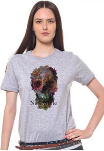 Camiseta Feminina Joss Caveirastyle Cinza