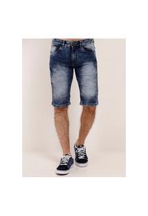 Bermuda Jeans Com Elastano Vels Masculina Azul