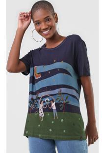 Camiseta Cantão Fortuna Azul-Marinho/Verde