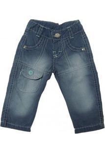 Calça Jeans Azul Claro Infantil Menino